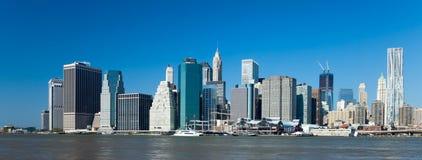 De stad w Van de binnenstad van New York de toren van de Vrijheid Royalty-vrije Stock Fotografie
