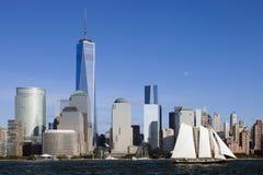 De Stad w Van de binnenstad van New York de Vrijheidstoren 2014 Stock Afbeelding