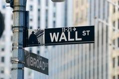 De Stad Wall Street van New York Stock Afbeelding