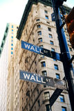 De Stad Wall Street van New York Stock Foto's