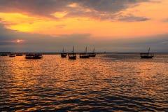 De Stad Zanzibar van de zonsondergangsteen Stock Foto