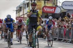 De Stadiumwinnaar - Ronde van Frankrijk 2018 Royalty-vrije Stock Foto