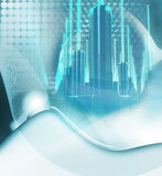 De stads blauwe achtergrond van de energie Royalty-vrije Stock Afbeeldingen