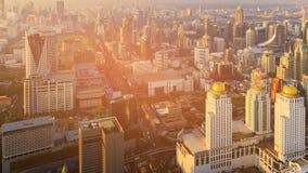 De stads centrale van bedrijfs Bangkok luchtmening van de binnenstad Stock Fotografie
