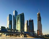 De stads commercieel van Moskou centrum Stock Fotografie