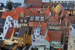De stads Deense huizen van Helsingor Stock Afbeelding