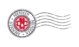 De stads grunge post rubberzegel van Aberdeen royalty-vrije illustratie