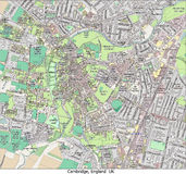 De stads hallo onderzoek luchtmening van Cambridge Engeland het UK Royalty-vrije Stock Fotografie