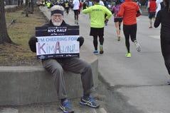 De stads halve marathon 2015 van New York Royalty-vrije Stock Foto