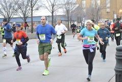 De stads halve marathon 2015 van New York Stock Foto