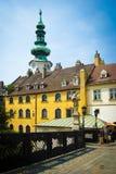 De stads historische architectuur van Bratislava Stock Foto