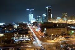 De stads lange blootstelling van Oklahoma Royalty-vrije Stock Afbeelding