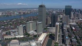 De stads luchtmening van Boston stock videobeelden