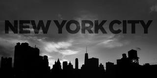 De Stads Panoramische Horizon Van de binnenstad van New York stock afbeelding