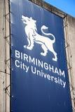 De Stads Universitair teken van Birmingham stock foto