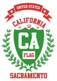 De stads vectorart. van Californië Royalty-vrije Stock Foto's