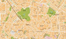 De stads vectorkaart van Milaan Stock Foto