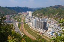 De stads yanan shanxi China van Ansai Stock Afbeelding