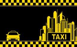 De stadsachtergrond van de nacht voor taxiadreskaartje Royalty-vrije Stock Foto's