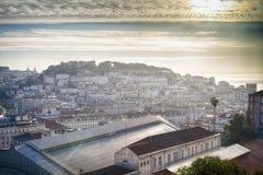 De stadsantenne van Lissabon stock foto