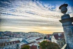 De stadsantenne van Lissabon royalty-vrije stock foto