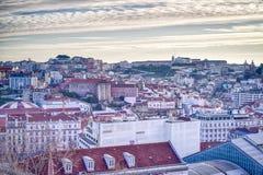 De stadsantenne van Lissabon, Portugal royalty-vrije stock fotografie