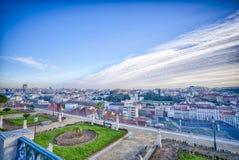 De stadsantenne van Lissabon, Portugal stock afbeeldingen