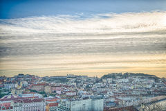 De stadsantenne van Lissabon, Portugal royalty-vrije stock afbeeldingen