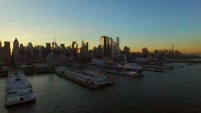 De stadsantenne van New York stock footage