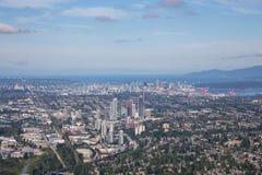 De Stadsantenne van Vancouver stock foto