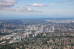 De Stadsantenne van Vancouver royalty-vrije stock foto
