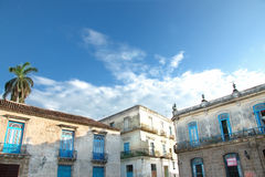 De stadsarchitectuur van Havana stock afbeelding