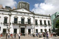 De stadsarchitectuur van Macao Royalty-vrije Stock Afbeeldingen