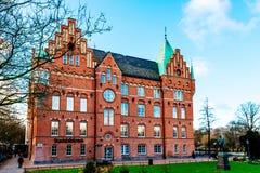 De stadsbibliotheek in Malmo in Zweden Malmo Stadsbibliotheek op 12 December 1905 eerst wordt geopend die Royalty-vrije Stock Afbeelding