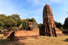 De stadsbouw blijft, blijft het standbeeld van Boedha van Wat Phra Sri Sanphet Temple in Ayutthaya, Thailand (Si Ayutthaya&#x van Stock Afbeeldingen