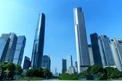 De stadsbouw in guangzhou China royalty-vrije stock afbeeldingen