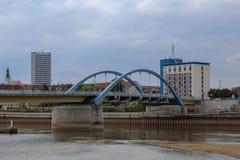 De stadsbrug van Frankfurt Oder, Brandenburg, Duitsland royalty-vrije stock afbeeldingen