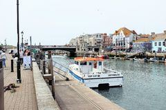 De Stadsbrug, Weymouth, Dorset royalty-vrije stock foto