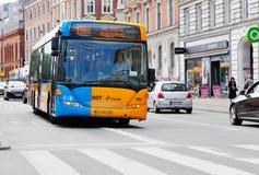 De stadsbus van Kopenhagen Stock Foto