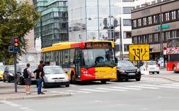 De stadsbus van Kopenhagen Royalty-vrije Stock Foto