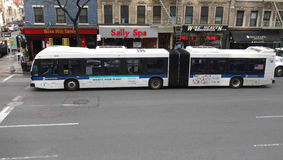De Stadsbus van New York Stock Afbeelding