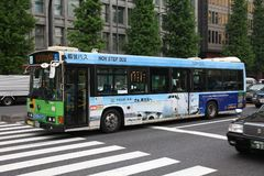 De stadsbus van Tokyo stock fotografie