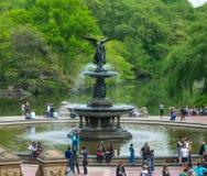 De Stadscentral park Bethesda Fountain van New York Stock Fotografie