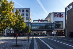 De Stadscentrum Denemarken van Friisaalborg shoppingmaul Royalty-vrije Stock Afbeeldingen