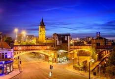 De stadscentrum Engeland van Manchester Royalty-vrije Stock Afbeeldingen