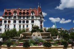 De stadscentrum van Aix-les-Bains Royalty-vrije Stock Foto's