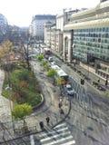 De stadscentrum van Belgrado Stock Foto