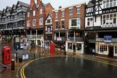 De stadscentrum van Chester Stock Foto's