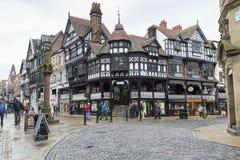 De stadscentrum van Chester Stock Afbeeldingen