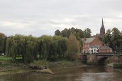 De stadscentrum van Chester royalty-vrije stock foto's